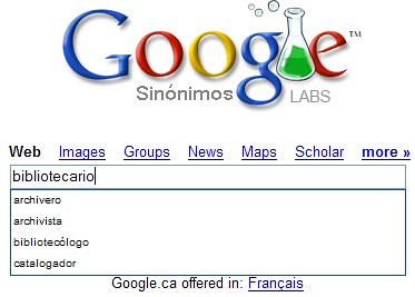 google sinonimos
