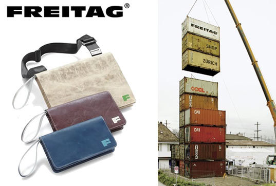 Freitag, Shipping Container Store, Recycled Design, Recycling in Design, Recycling in Architecture, Zurich, Green Design