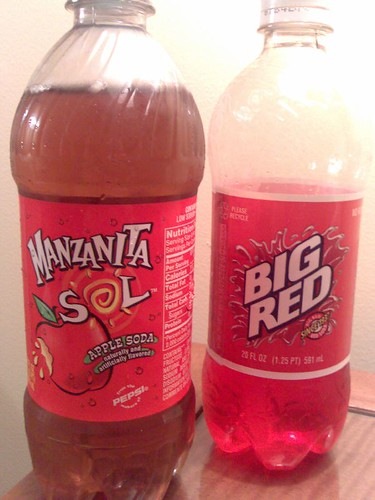 Manzanita Sol and Big Red sodas