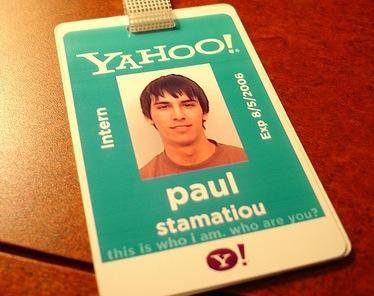 Paul Stamatiou's Yahoo Internship