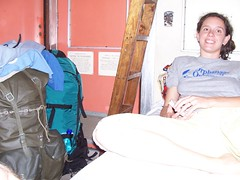 Katie on the Train to Mwanza