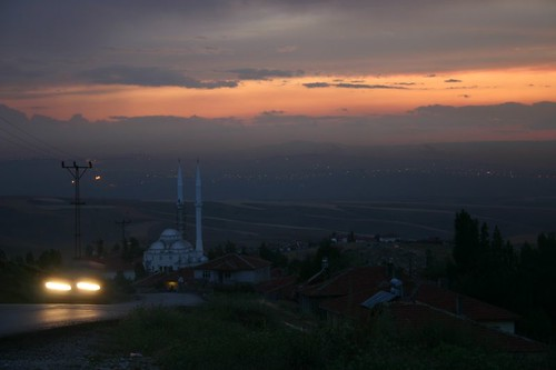 Dusk from the Elmadag Mountain just outside of Ankara...