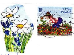 Gardening Stamp from Finland