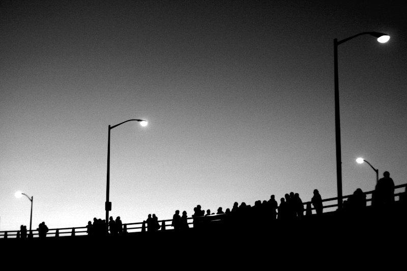 On the Morrison Bridge at Dusk