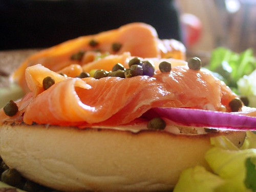 Lox Salmon Bagel