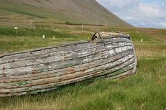 An old boat at Auðkúla