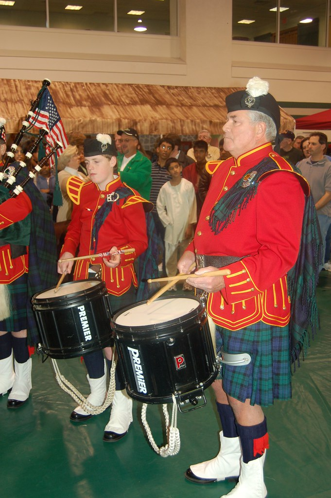 Irish pipers & drummers