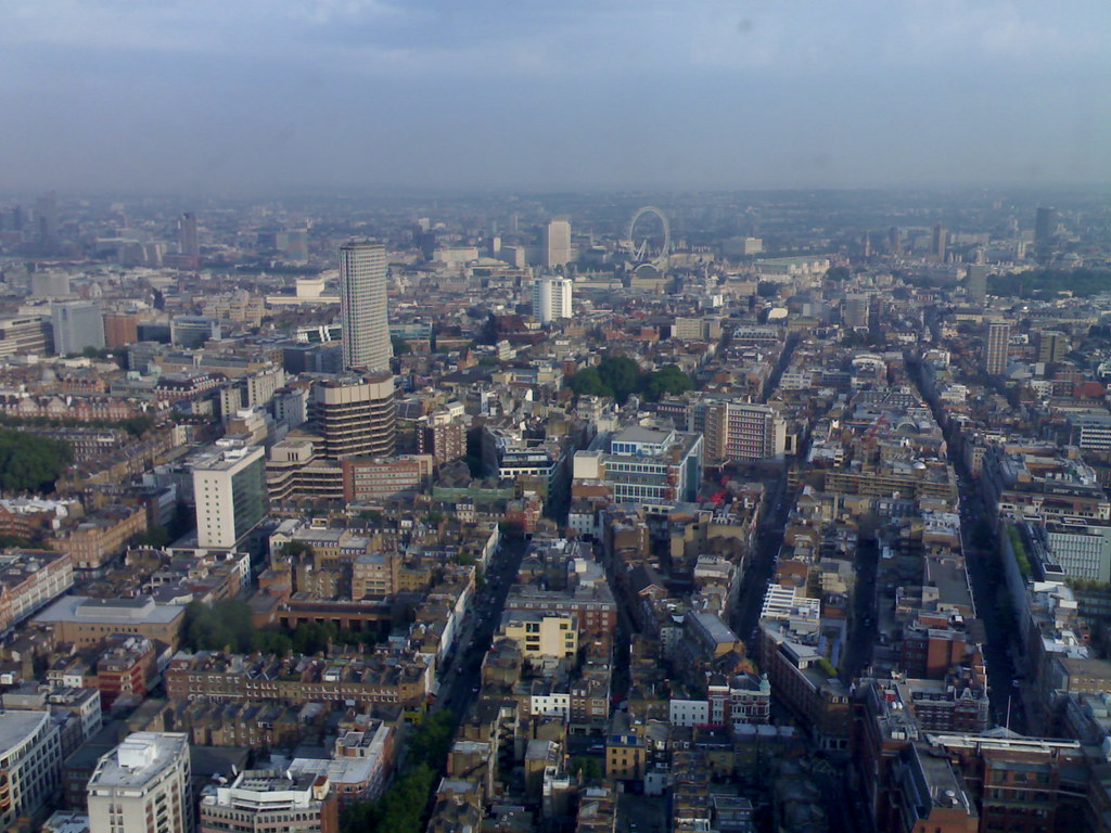 view from 34th floor BT tower