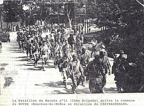 Provence 1944: BM XI quittant Noves (13)