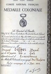 Marcel Eiffener Médaille coloniale