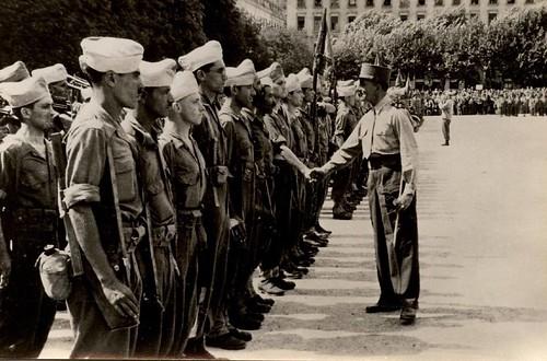 Lyon 1944 - Général de Lattre et soldats du 22 BMNA - Gérard Priol