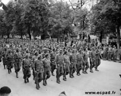 1944 - Dijon - Défilé