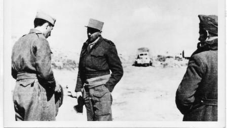 Train - Libye 1942 -  Lt Dulau et Gal de Larminat -- ADFL