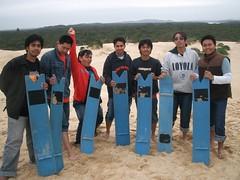 Sand Boarding kat Padang Pasir Port Stephen, Australia