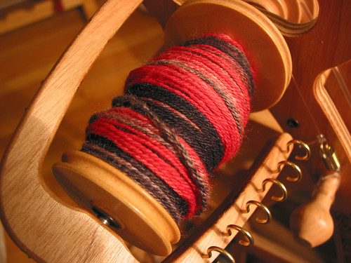 The Red and The Black - navajo plied