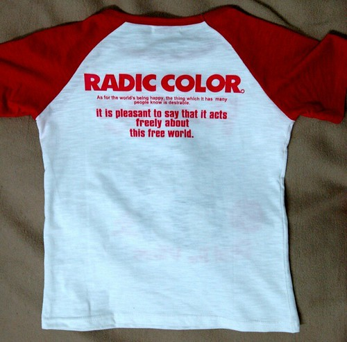 back of radic shirt