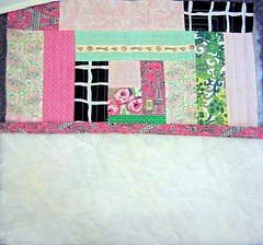 Log Cabin Pillow Tutorial:  Sewing Front and Back Together
