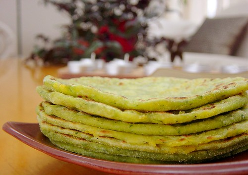 spinach-cottagecheese parathas
