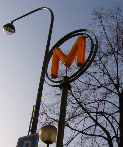 Metro Sign at Ternes. Like every big City though Paris has its stalls