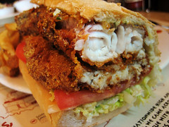 fried catfish filet sandwich