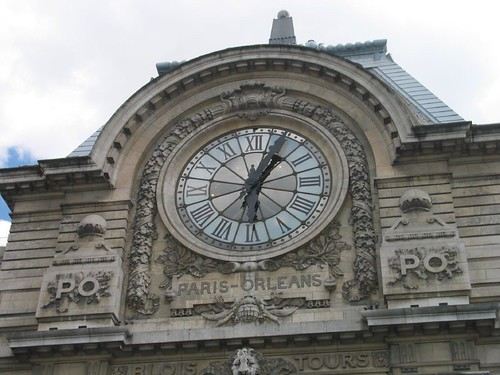 The clock outside the building