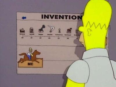 Homer emulando a Edison
