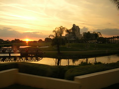 Sun goes down on the Marriot