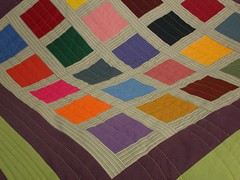 Colour block quilt edge