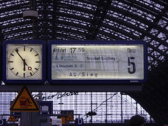 Kölner Hbf alte Anzeigetafel