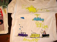 Sessão de pintura de t-shirts