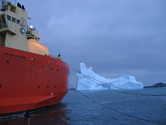 Iceberg moving in