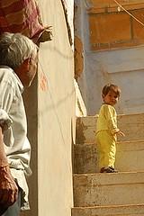 Grandpa and Boy, Jaisalmer, Rajasthan, India Captured April 14, 2006.