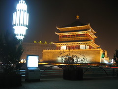 Bell Tower of Xi'an at night