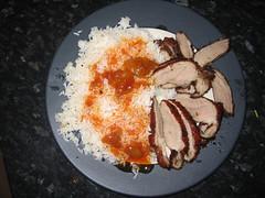 Cantonese roast duck with plum sauce from Edinburgh's Wok & Wine