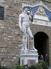 Copy of Michelangelo's David, Piazza della Signoria