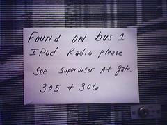 iPod Radio Found on Bus?