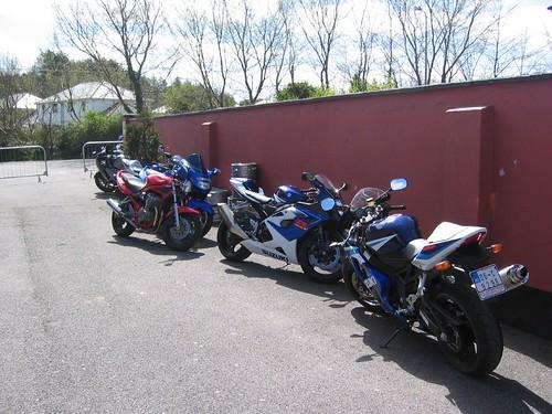 Motorbike at Ash Tree pub