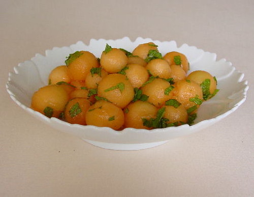 Melon Balls with Mint