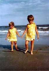 me and Linds, Sea Island