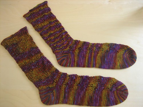 Sockapaloooza socks, finished!