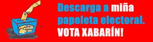 Vota Xabarín con esta papeleta