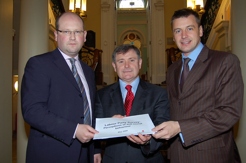 Ged Nash, Brendan Howlin and myself at the launch of the anti-social behavior study