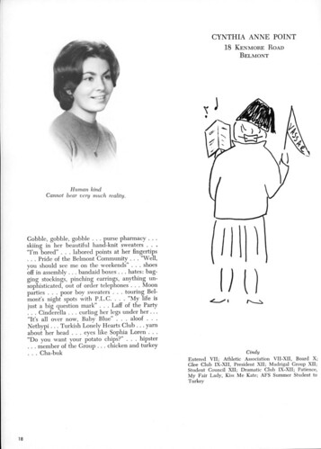 Cynthia Point - Yearbook Page