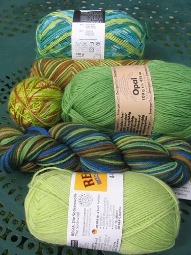 Green Sock Yarn!