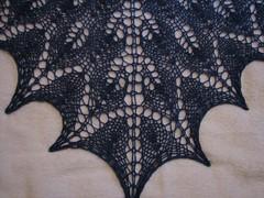 stitch detail, shetland triangle