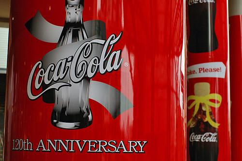 Coke Anniversary Banner