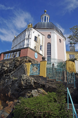 Colourful building - Portmeirion, Wales.