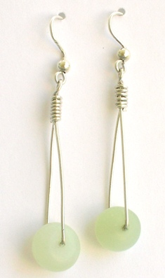 jade swing earrings