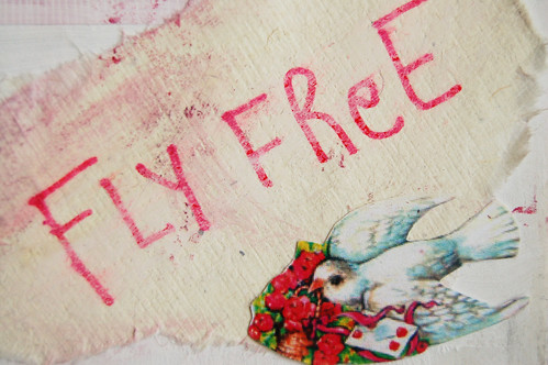 Fly free like a bird - detail of picture
