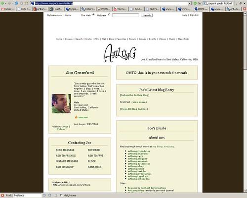 http://www.myspace.com/artlung